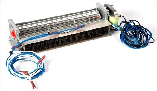 30000442 Heat Surge Fireplace Cross Flow Fan with motor & Heat Element
