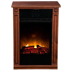 Dark Oak Heat Surge Accent Infrared Fireplace EV.2 with LED Insert